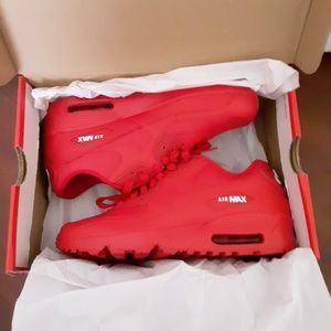 Red Nike Air Max 90s